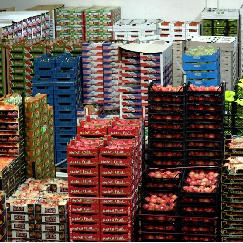 Grossmarkt Lieferung Obst Gemüse